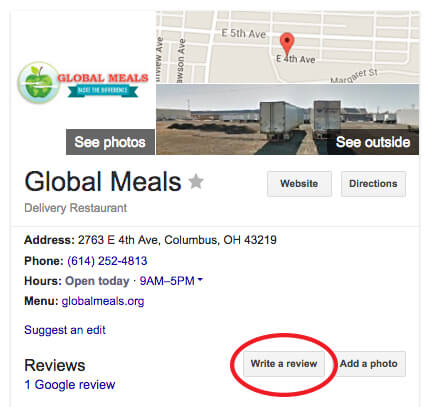 global meals review window